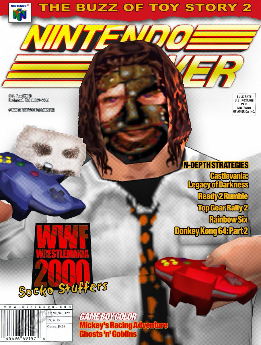 """#artimitatewrestling - Mankind @RealMickFoley (WWF Wrestlemania 2000)  This piece made me Remember that WM 2000 Commercial when """"N64 Rock"""" told The Rock to shut up. <br>http://pic.twitter.com/L1qoPScgmf"""