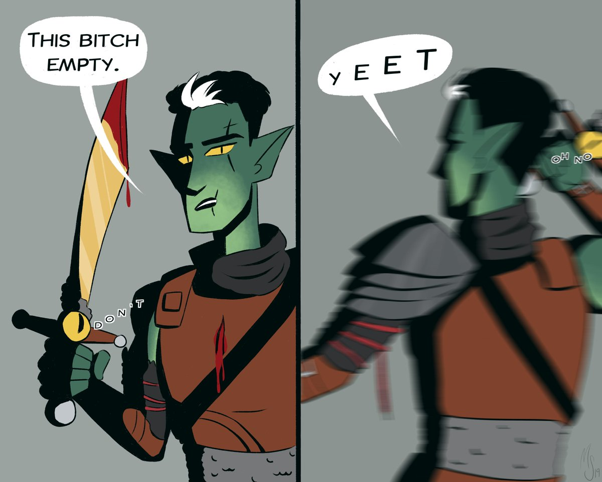 i know this was a very serious and pivotal character moment but also this has been stuck in my head ever since i watched the episode and im sO SORRY   #criticalrolefanart<br>http://pic.twitter.com/me2DNHeyBa
