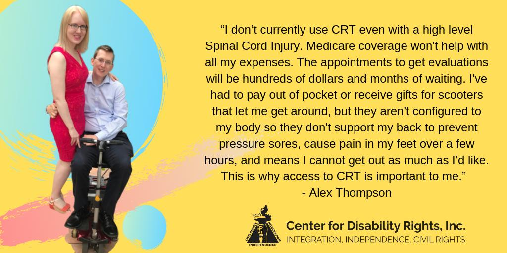 Please DM us if you're in NYC and you have a story related to complex rehab tech and Medicaid--help get this bill passed. Thanks!