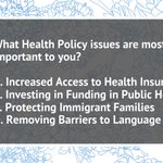 Image for the Tweet beginning: What #HealthPolicy issues are most
