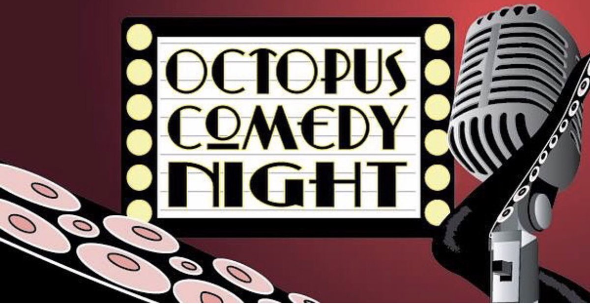 Tonight! Every month the Octopus hosts featured and open-mic. comics. Sign up starts at 8pm this Wednesday August 21. No cover. Join us! #octopuscollegehill #octopuscomedynight