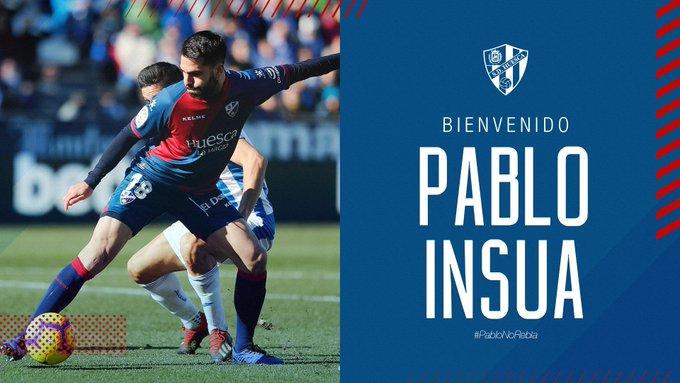 Pablo Insúa, nuevo jugador del Huesca.