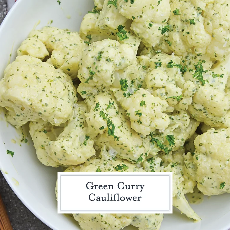 The search for the perfect side dish is over! This GREEN CURRY CAULIFLOWER is easy to make and packed with flavor! Recipe & Pin: savoryexperiments.com/green-curry-ca…