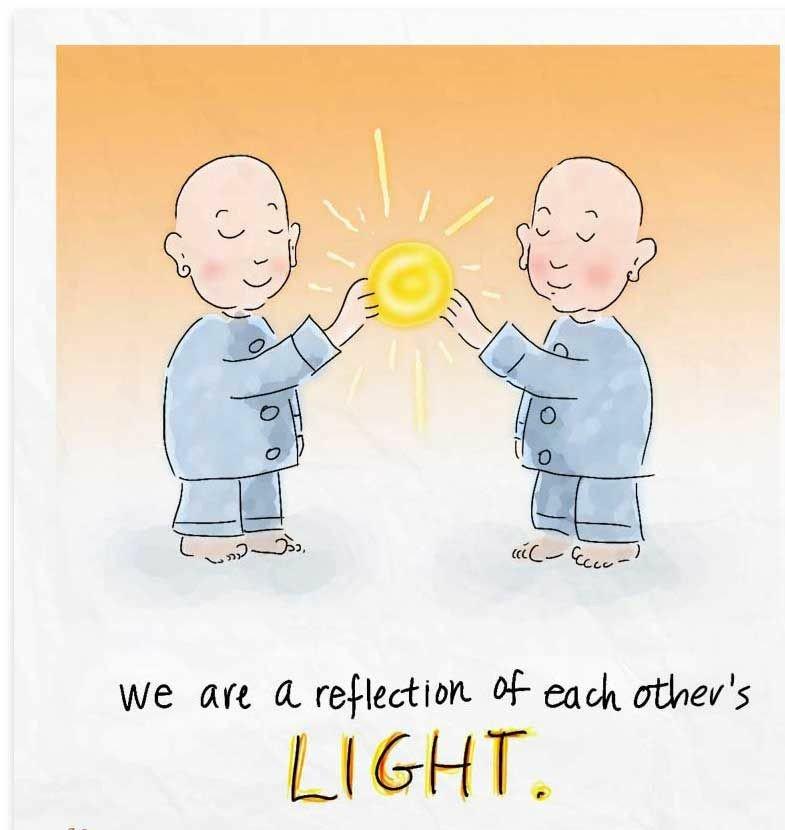 We Are Reflection Of Each Other's LIGHT.  #bethelight  #WednesdayWisdom  #waytolive #WednesdayThoughts  #quoteoftheday  #GoldenHearts #FamilyTrain #ThinkBIGSundayWithMarsha<br>http://pic.twitter.com/wSDnFHli0a