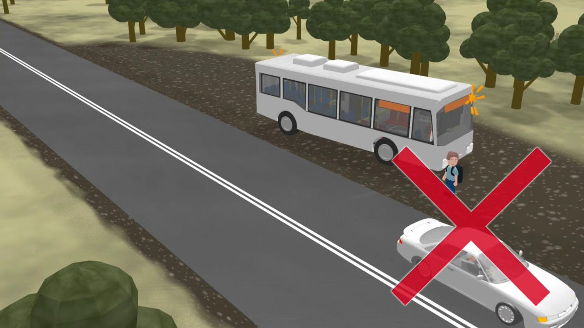 #WisdomWednesday Did you know that  unlike school buses, traffic does not stop when a transit vehicles stops. Be safe. And don't ever cross in front of a transit vehicle. <br>http://pic.twitter.com/Vex4oSXUBI