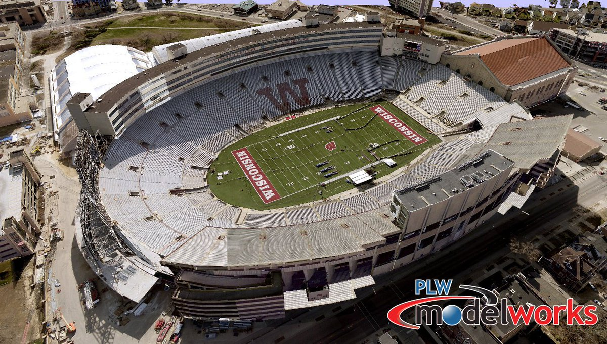 Football season is finally upon us this weekend! PLW has over 100 NFL and college football stadiums modeled in our archive! Check out the University of Wisconsin - Camp Randall Stadium below! #collegefootball #3Dmodels #3D #footballstadium https://t.co/NqUoa53Rko