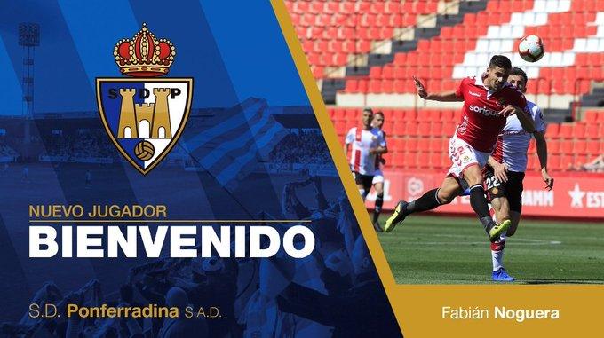 Noguera, nuevo jugador de la Ponferradina (Foto: SDP).