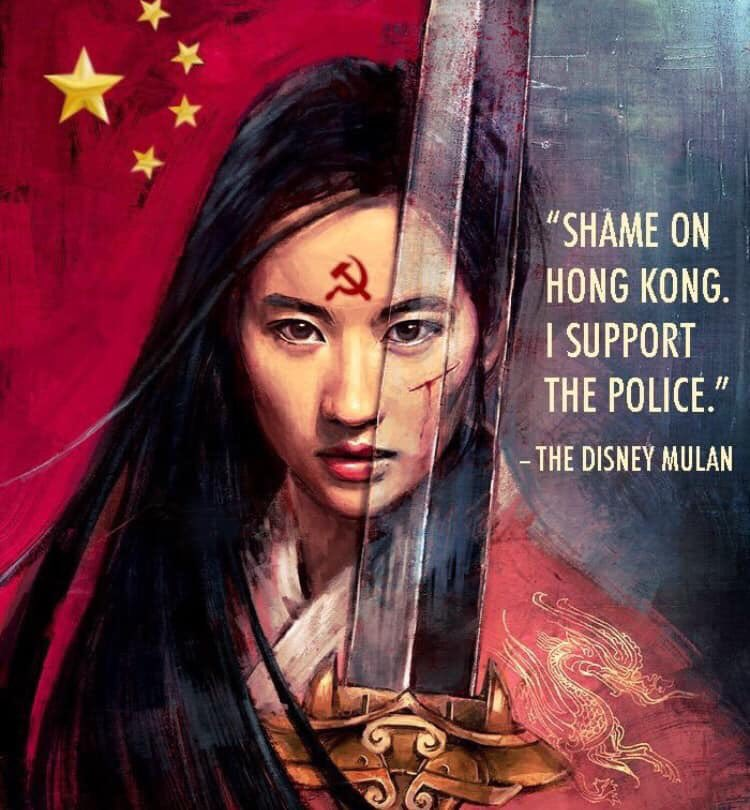 And this is what the #disney #mulan support: Police brutality against Hong Kong peaceful protesters.  #BoycottMulan  #FreeHongKong https://t.co/ZStsAVmlaq https://t.co/PACk47vxQa