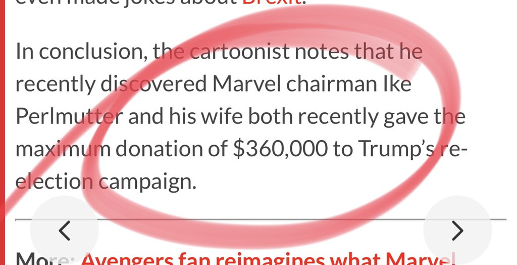 "@Lexialex Also, isn't Marvel owned by Disney? Dan Le Batard of ESPN was also in hot water after he denounced ESPN's no politics policy when he labeled ""send her back"" chants as un-American."