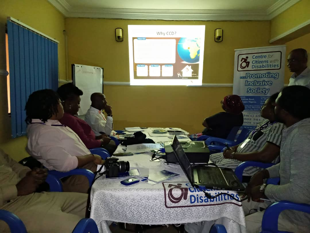 @CCDNigeria hosted representatives from Dewdrop Foundation (DDF), @WHERInitiative; and the Voice For Inclusion team for the peer-learning exchange visit. The meeting took place today at CCDs office in Abuja. #VoicesForInclusion #DisabilityACTNGR @lilianefonds