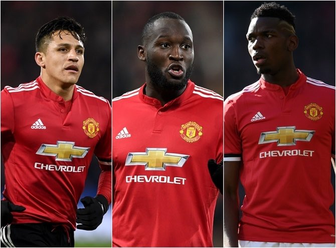 Image result for pogba lukaku alexis