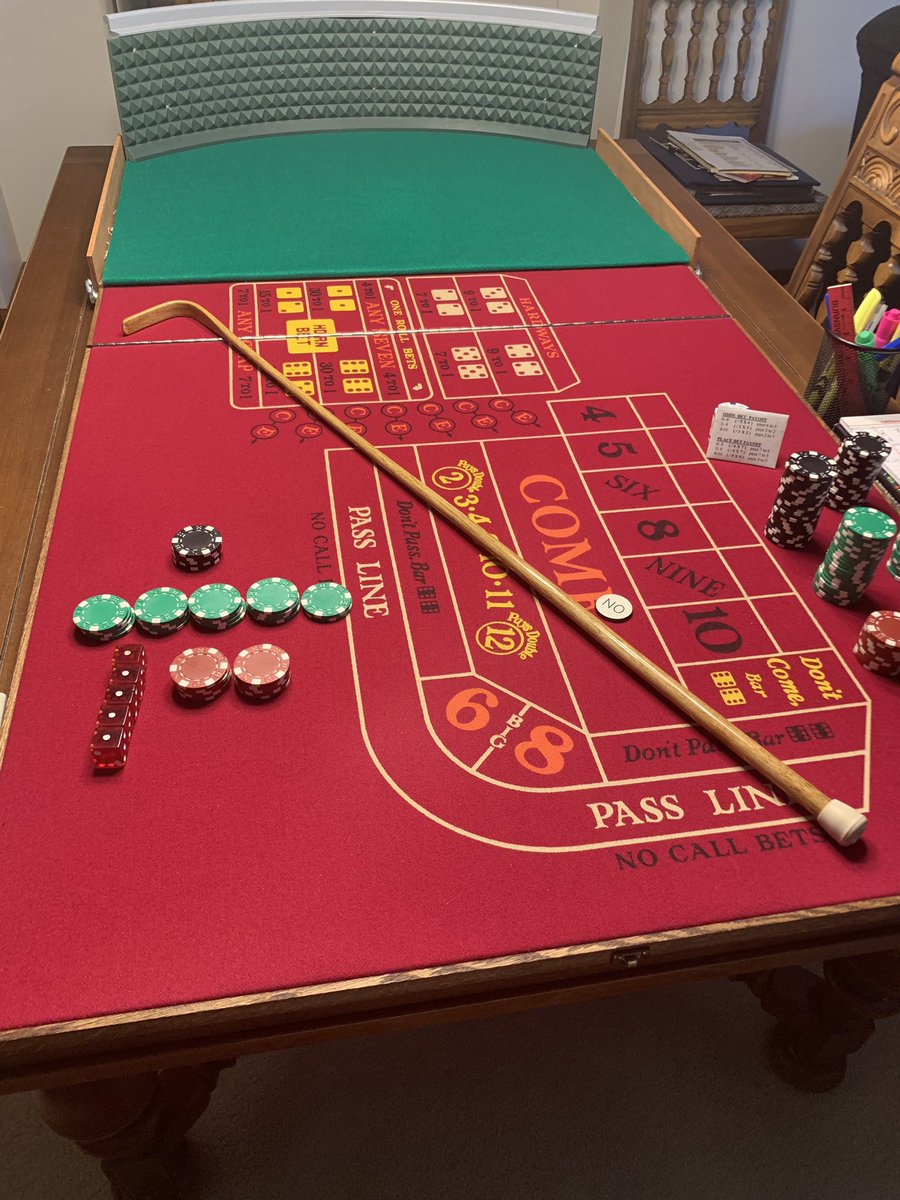 Anyone else's Dad have a dinning room table converted into a craps table?