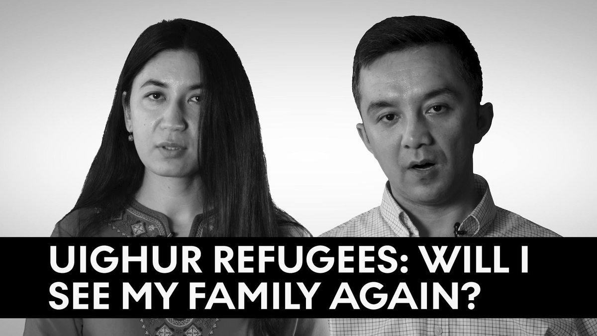 """""""I  don't know where's my mom, where's my father, where's my brothers.""""  As many as 1.5 million Uighurs and other Muslims have been detained in detention camps in China. Two Uighur refugees share what it's like to be completely separated and cut off from their family members:"""