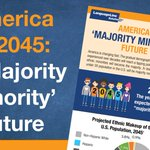 Image for the Tweet beginning: By 2040 the US will