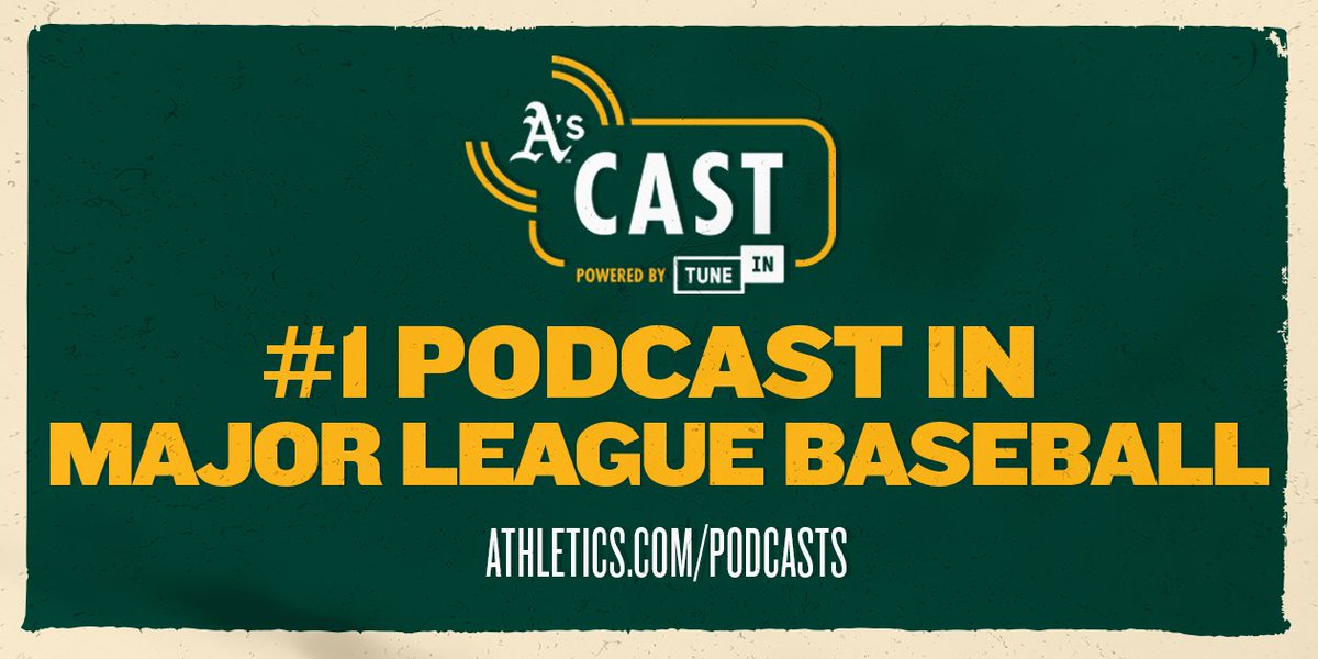 We're proud to announce that thanks to A's Cast's 368,000 podcast downloads and 135,000 hours of programming, MLB has named it the No. 1 team podcast this season!  Find out why at  http:// athletics.com/podcasts       #RootedInOakland <br>http://pic.twitter.com/ZR7prmrRUx
