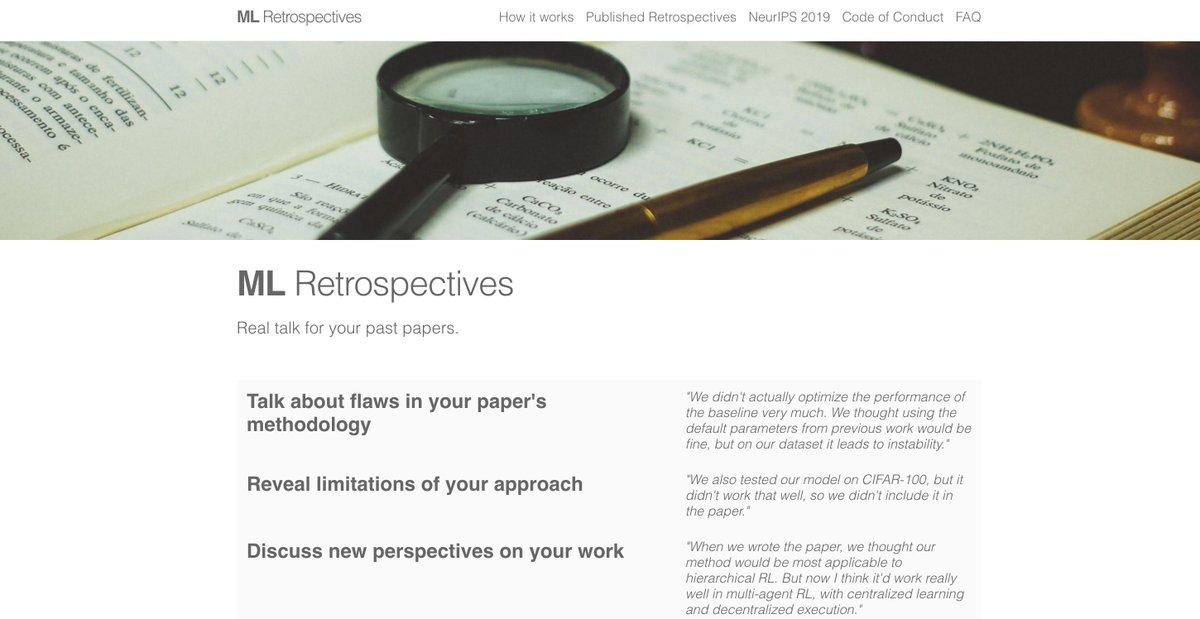 ML Retrospectives (@MLRetrospective)   Twitter