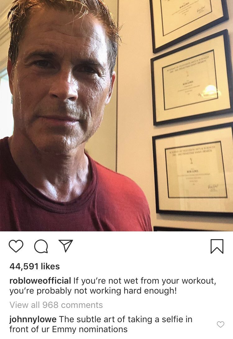 PSA: Rob Lowe's sons dragging him on Instagram is a great way to entertain yourself when you're awake in the wee hours.