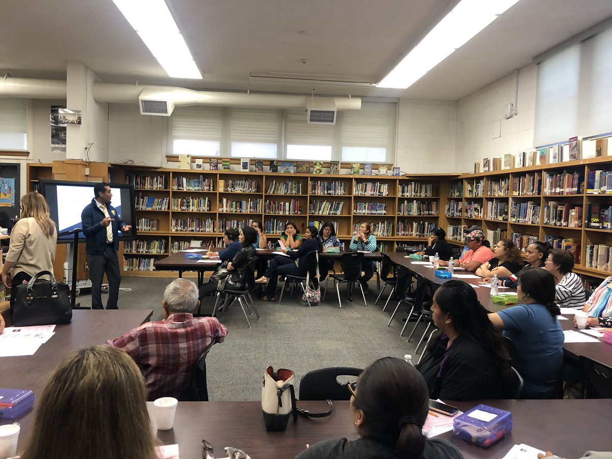 Our favorite principal talking with parents at Coffee with the Principal!!! @SUHSD