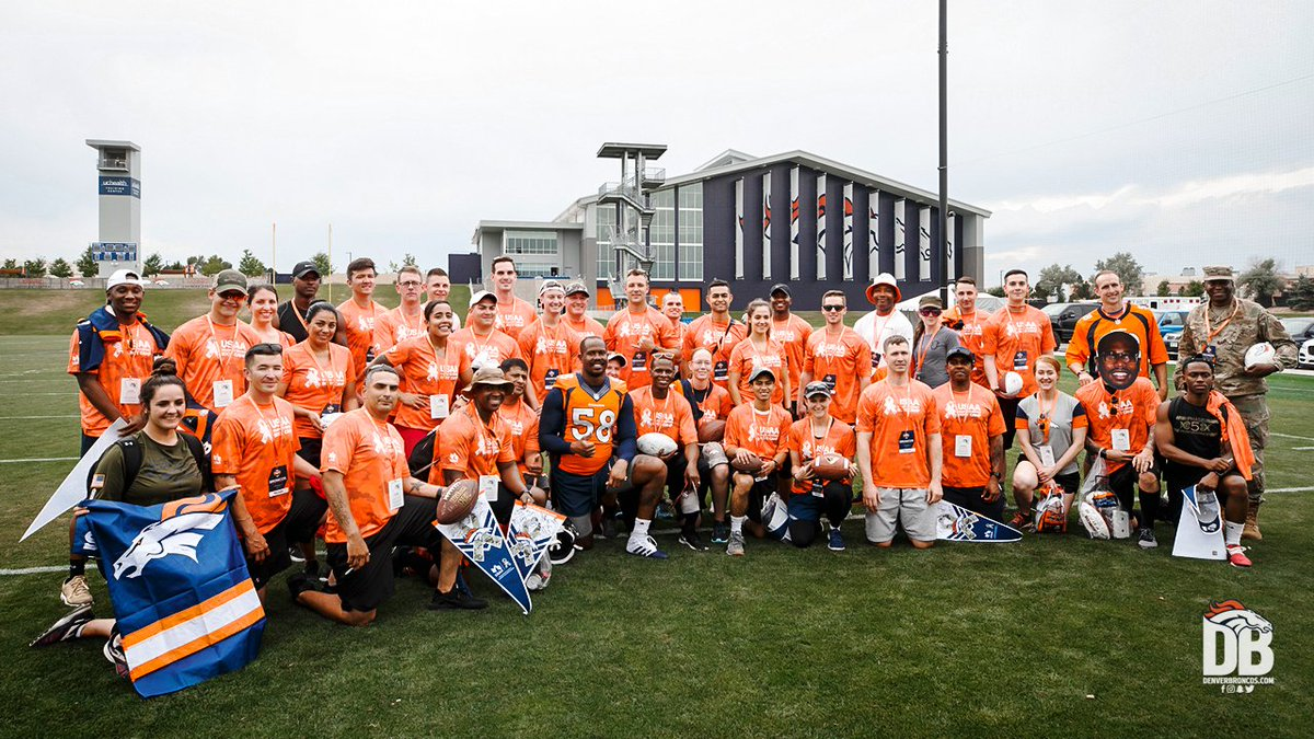 Denver Broncos host military members for Salute to Service boot camp