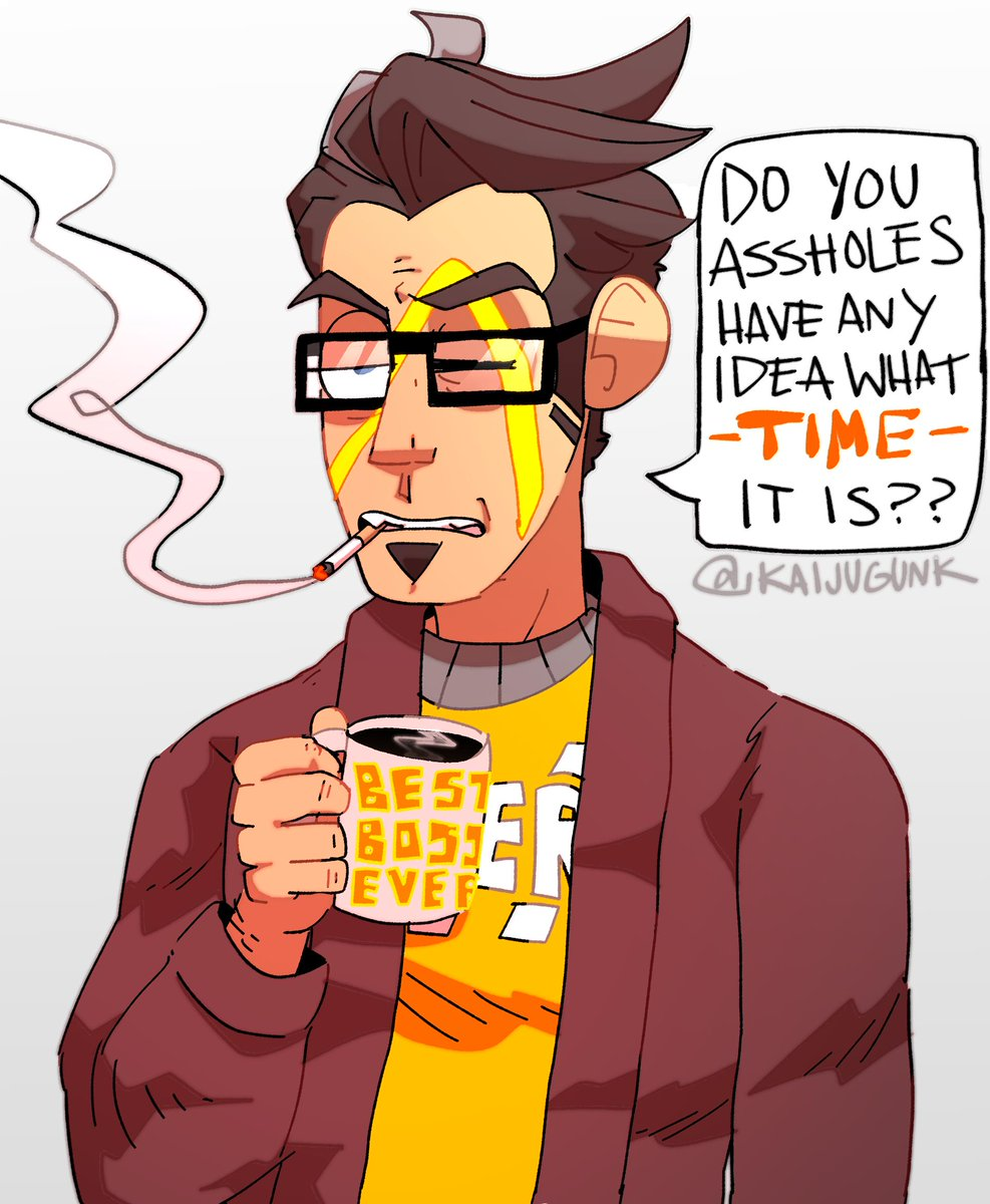 the concept art of him smoking w glasses makes me weak.................... #Borderlands  #handsomejack<br>http://pic.twitter.com/8N9LvdaDVY