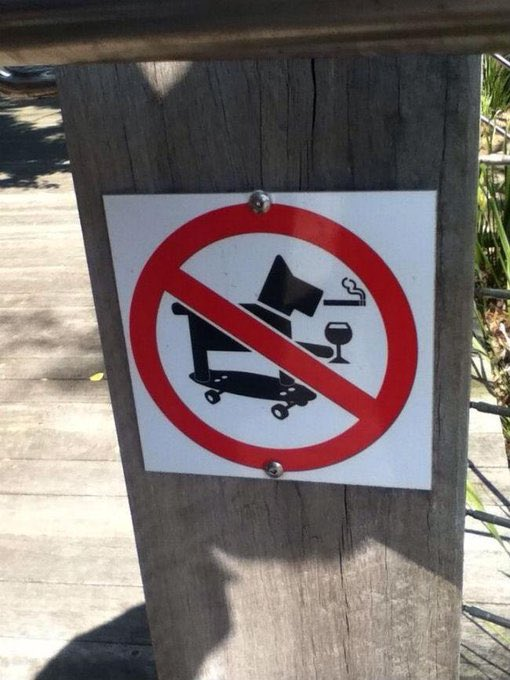 It's a sad day when they ban the world's coolest dog. <br>http://pic.twitter.com/7rtS8ZN50V