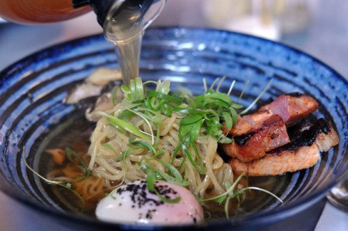 Breakfast ramen with 62˚c hens egg, bacon, mushroom, spring... #food <br>http://pic.twitter.com/q8pB7BAEc6