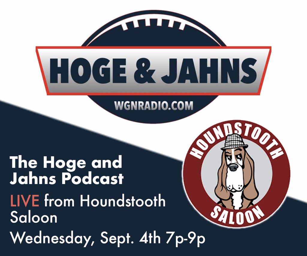 The Hoge & Jahns Podcast kickoff party is two weeks from tonight. Will @adamjahns lose another bet between now and then?