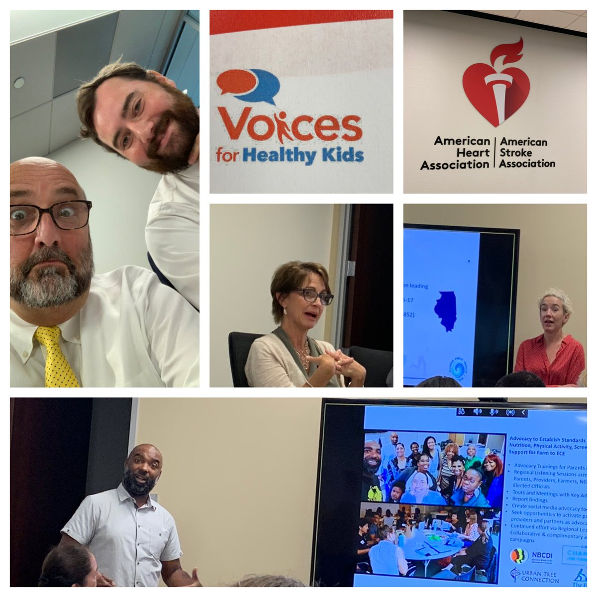 So inspired by the work of #HealthyLiving leaders and @Voices4HK. @American_Heart and @RWJF are great partners w #ymca #yadvocates! Miss seeing @MonicaHVinluan but fun to visit w @DwayneWharton and @tjsheridan!<br>http://pic.twitter.com/2X55x6SBJ3