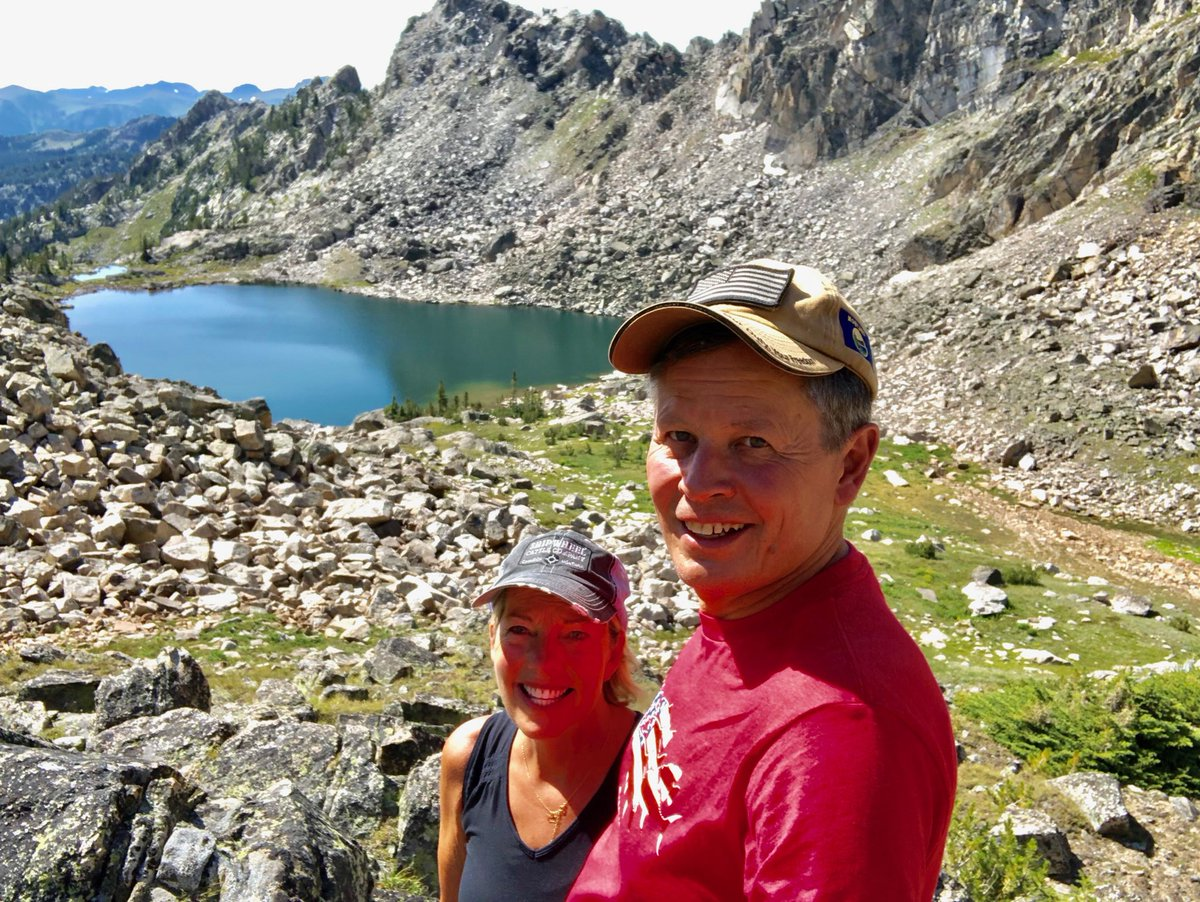 Great few days in Montana's Absaroka-Beartooth Wilderness.  Just Cindy and me and our dogs.  No trail to this lake! #cutts<br>http://pic.twitter.com/PbNyZT60Fr