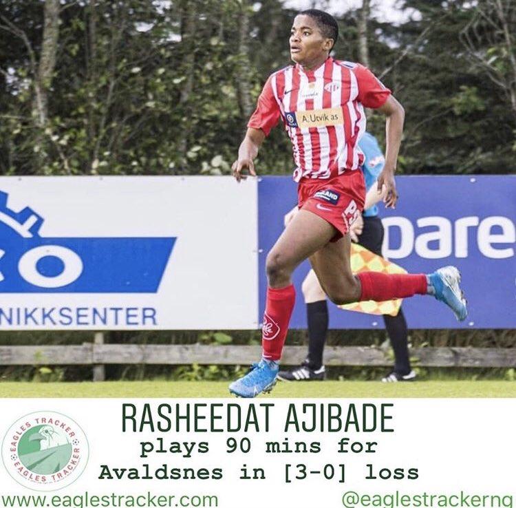 Tough day at the office for Rasheedat Ajibade @Rasheedat08 in #avaldsnes [3-0] loss vs #valerenga in the #norway #nm #women #cup ———————————— More on  http:// eaglestracker.com     Link in bio ———————————— #eaglestracker #superfalcons #ajibade #rasheedatajibade #team9jastrong <br>http://pic.twitter.com/QPnLFcUONW