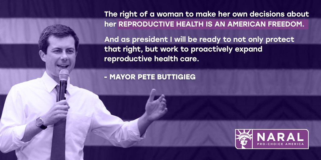Supporting abortion access is a winning issue! @NARALIowa members were so thrilled to speak with @PeteButtigieg about his ideas to protect and expand reproductive freedom at today's Town Hall! #2020Election