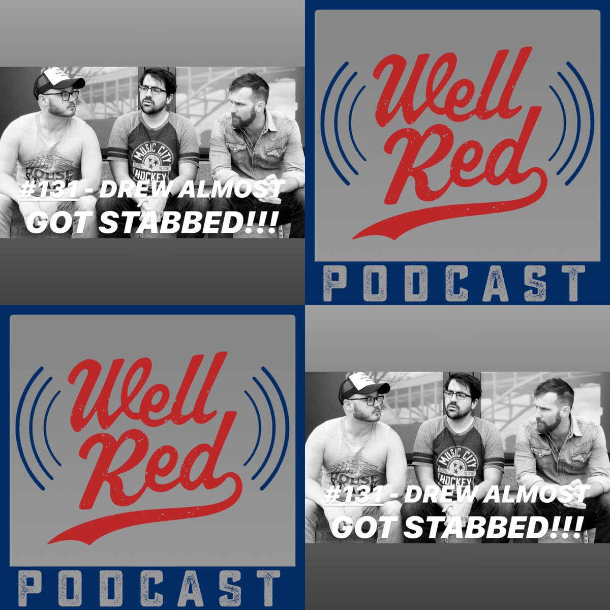 It only took us 131 episodes to realize we should have a twitter! Podcast can be found at  http:// wellredcomedy.com      or whereever you do your podcasting!<br>http://pic.twitter.com/LWagER4841