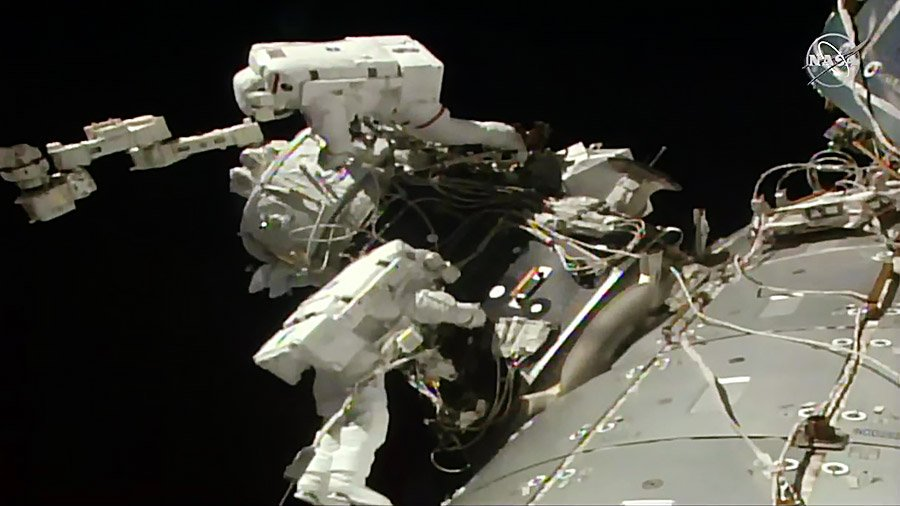 .@AstroHague and @AstroDrewMorgan wrapped up a six-hour and 32-minute spacewalk today at 2:59pm ET. The duo installed the stations second @Commercial_Crew docking port. go.nasa.gov/2Z4QDqh