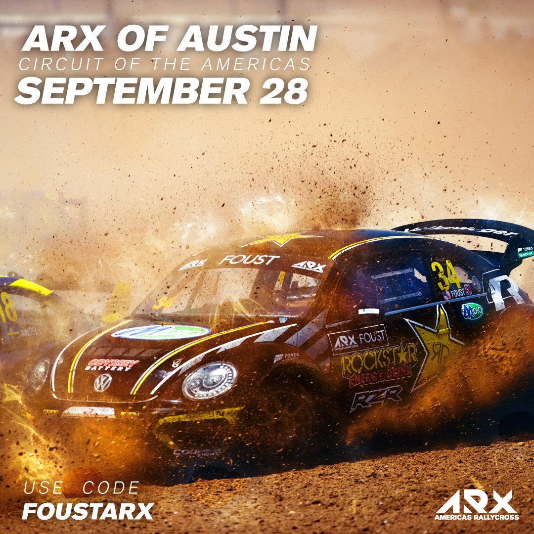 Round 5 of @ARXRallycross is headed to @COTA in September and we have a discount ticket code to the event! We promise, the action won't disappoint. 🎟: FOUSTARX 🔗:oss.ticketmaster.com/aps/cota/EN/li… #AllAndretti #ARXofAustin #ARX #Rallycross