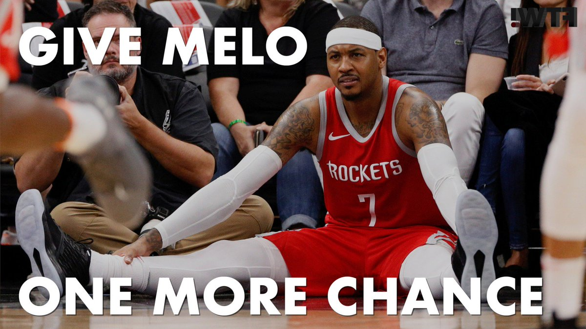 .@Bycharlescurtis is begging: Pleaseeeeeeee give Carmelo Anthony a job!