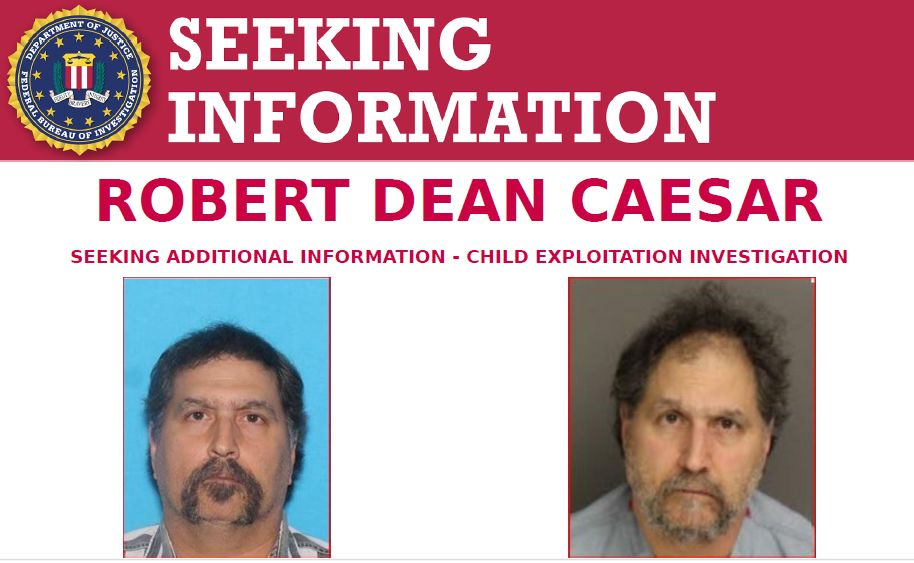 The #FBI Philadelphia Field Office is asking for the public's assistance to identify potential victims of Robert Dean Caesar, a 56-year-old US Citizen currently in federal custody and charged with production, receipt, and possession of child pornography:  https://www. fbi.gov/wanted/seeking -info/robert-dean-caesar  …  <br>http://pic.twitter.com/3mmWlfOIf0