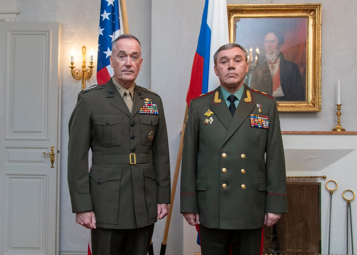 #GenDunford spoke with his @mod_russia counterpart, Gen. Valery Gerasimov, today by phone. Both senior leaders recognize the inherent value of regular communication in order to avoid miscalculation and promote transparency.   Full readout:  https:// go.usa.gov/xV4ZU       (File photo)<br>http://pic.twitter.com/TNeK18QEpN