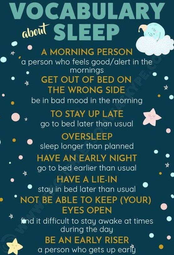 Vocabulary about sleep#learning #LeftHandersDay #English