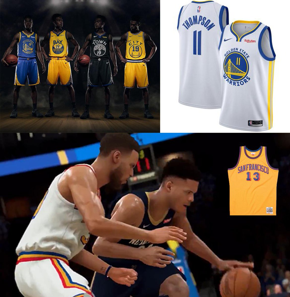 RT @GSWReddit: Warriors 19/20 Uniforms https://t.co/K3J9F10mRH