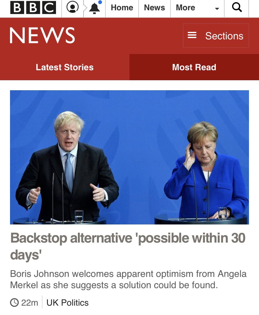 First meeting and Angela Merkel takes Bumbling Boris Johnson to the fuckn cleaners  <br>http://pic.twitter.com/icMX85AESh