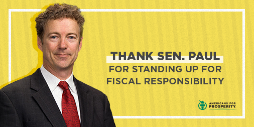 Thank Sen. @RandPaul for voting against the reckless budget deal that blows through spending caps and adds trillions to the debt. americansforprosperity.ivolunteers.com/ContactOfficia…