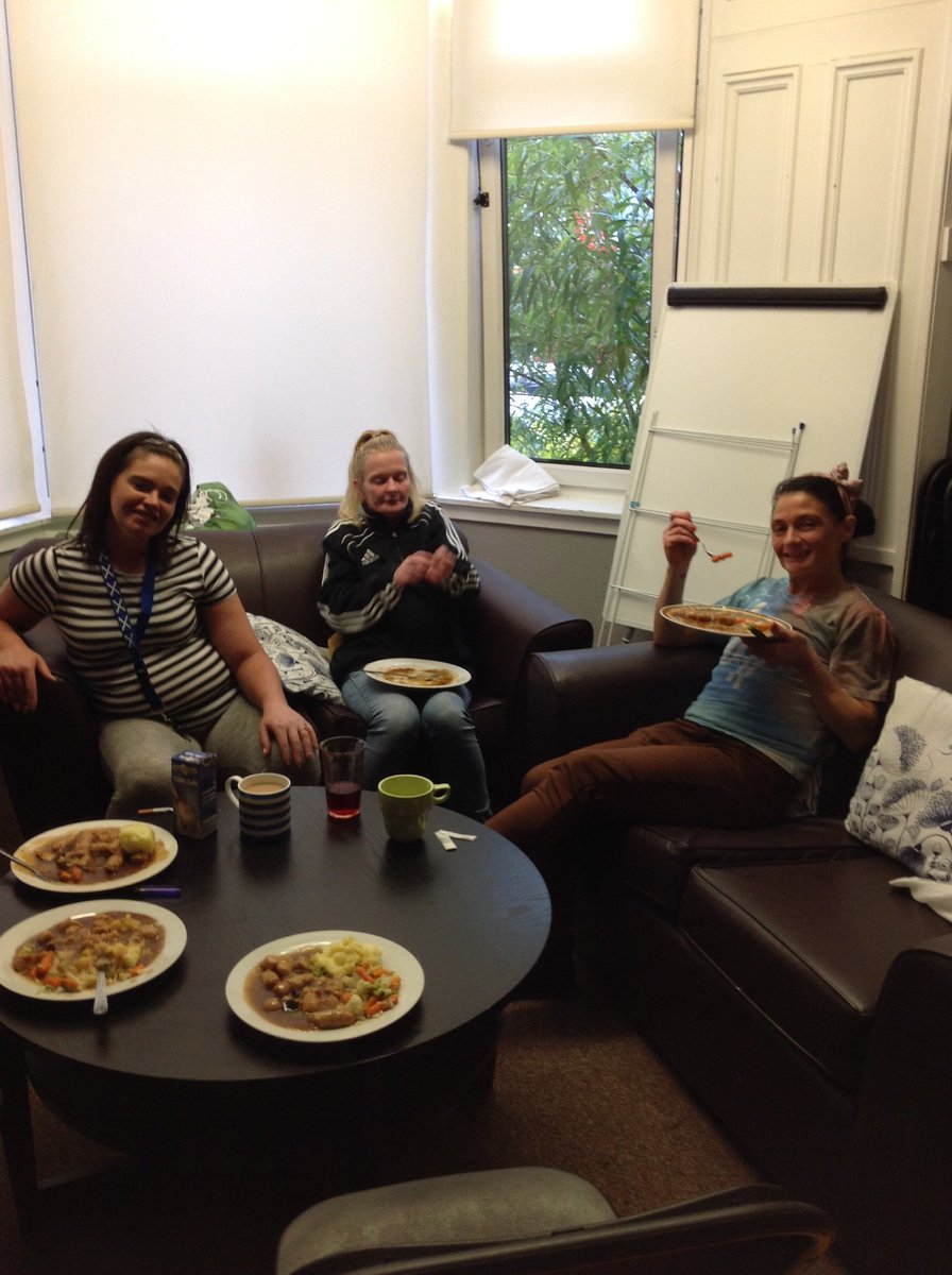 Image for Some of our lovely ladies at QMD who took part in our cooking group this evening