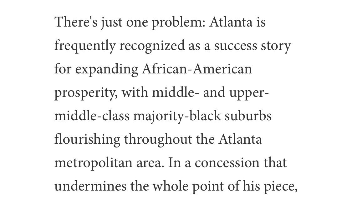 Wow, Atlanta has a reputation as a racially progressive town! And yet there's proof of segregationist intent even there?   Huh, someone ought to write a book about that. Maybe magazine writers might even read it. <br>http://pic.twitter.com/4I0cX2v5Pz