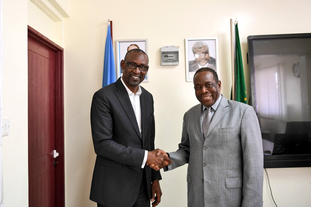 Special Envoy and Chief of Staff to the Chairperson of the @_AfricanUnion Commission, Amb. Abdoulaye Diop is in #Somalia on a two-day visit to evaluate the work of #AMISOM and express solidarity with the government and people of Somalia, on behalf of H.E @AUC_MoussaFaki.<br>http://pic.twitter.com/XXVF11YAvX