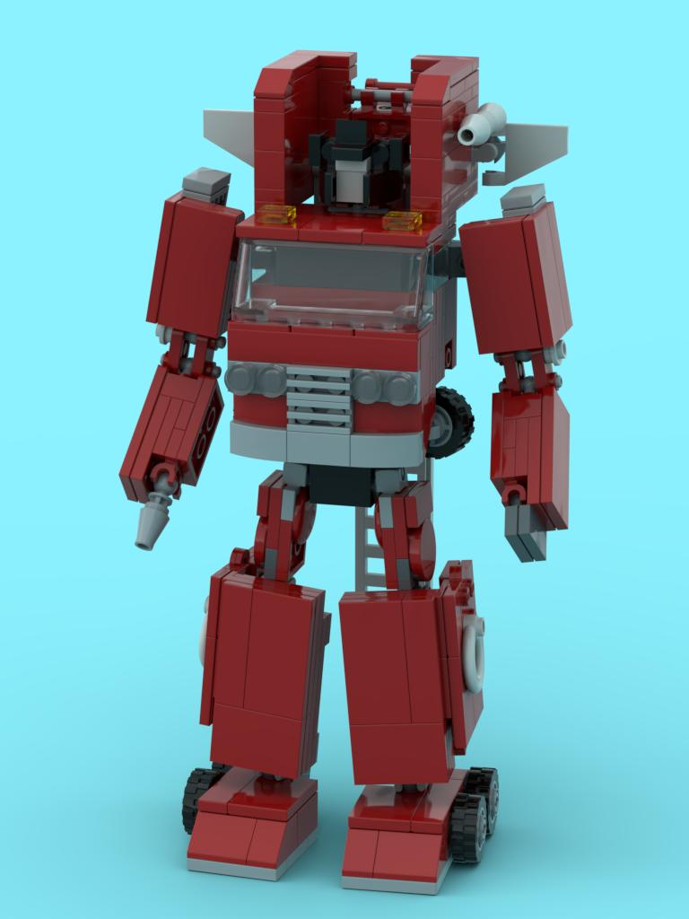 #Transformers #LEGO G1 Inferno, with a couple extra pictures of the physical prototype.