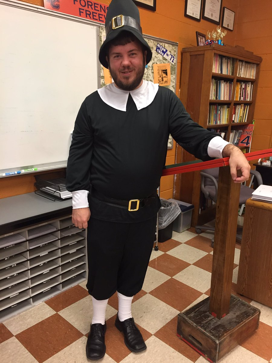 We started the first session of the Anne Hutchinson @ReactingTTPast game today in @DCcougarnation dual enrollment U.S. history class. I thought I would set the mood with of 1637 Puritan Massachusetts #seizetheday <br>http://pic.twitter.com/LkmWbi9eFk