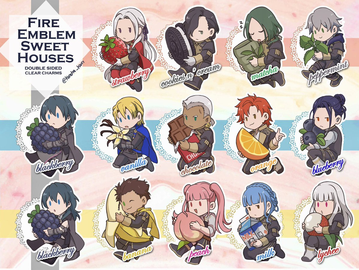 PREORDER Hi!! My store is now open with FE3H, HnK and updated KH charms! Ends Sep 15. I'm running a deal of Buy 3 Get 1 free for new designs, please check both item descriptions for details!! thank you!!  http:// konohakairi.storenvy.com     <br>http://pic.twitter.com/AIDLEx4CjQ