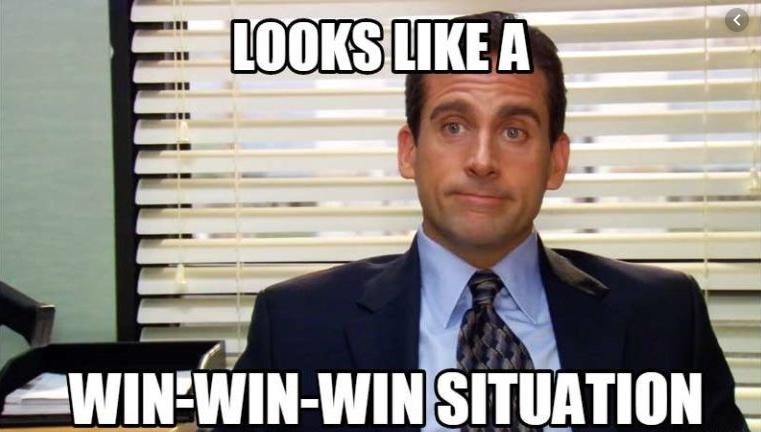 Image result for michael scott win win win