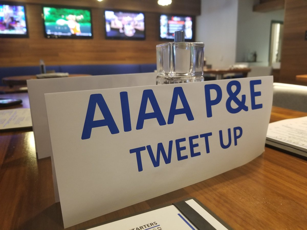 #AiaaPropEnergy🔥 Forum Tweet Up! Join us at High Velocity (inside the conference hotel) - Look for the long table with a sign.
