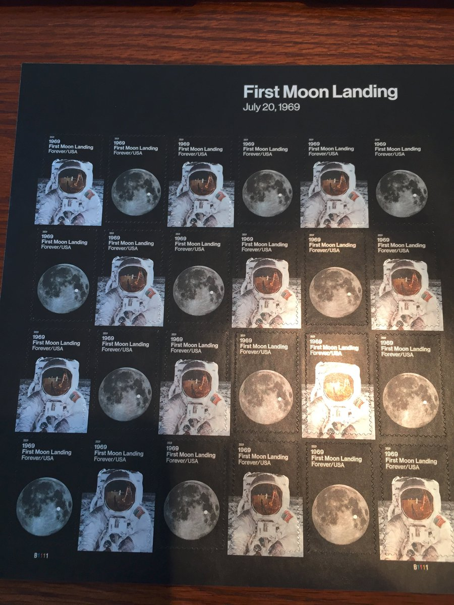 Just got the coolest stamps!  #Apollo50th #Apollo11 @TheRealBuzz<br>http://pic.twitter.com/M7oP8QBHtP